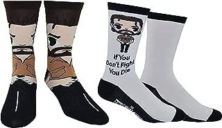 The Walking Dead Socks Gifts (2 Pair) - (1 Size) The Walking Dead Products Rick Grimes Crew Socks Women & Men's