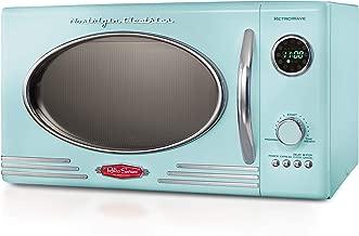 Nostalgia RMO4AQ Retro Large 0.9 cu ft, 800-Watt Countertop Microwave Oven, 12..