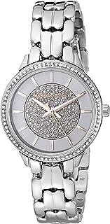 Michael Kors Women's Allie Quartz Watch with Stainless Steel Strap, Silver, 12 (Model: MK4411)