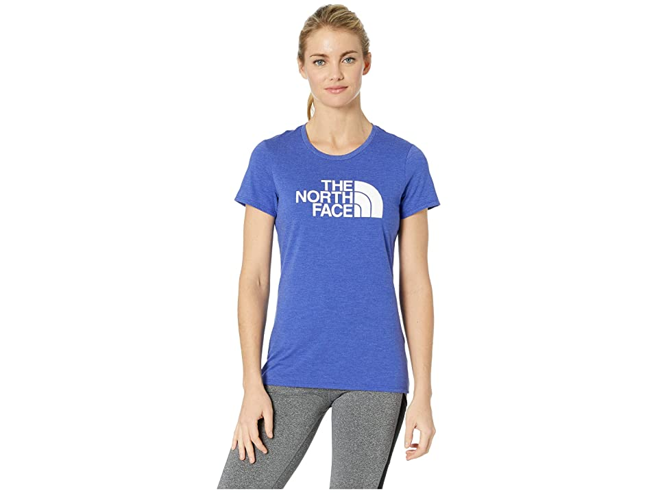 The North Face 1/2 Dome Tri-Blend Crew Tee (Aztec Blue Heather/TNF White) Women