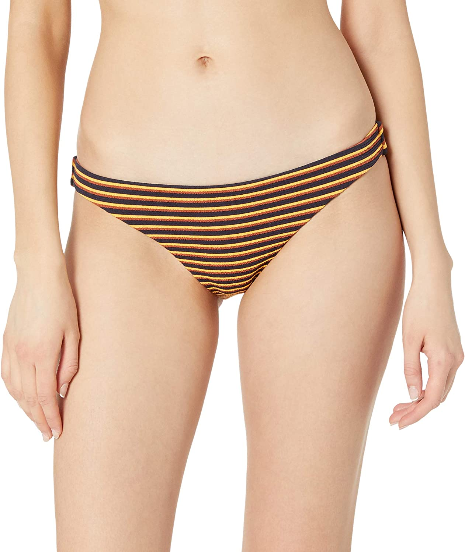 RVCA Women's Standard Bondi Stripe Medium Coverage Bikini Bottom