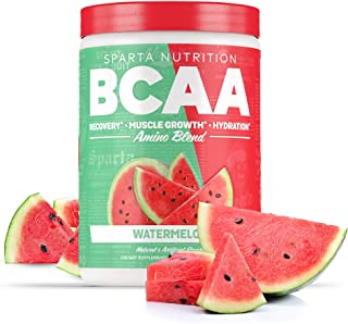 Sparta Nutrition BCAA with Amino9, Full Spectrum EAAs, Caffeine Free, Soy Free, Gluten Free, Watermelon, 30 Serving