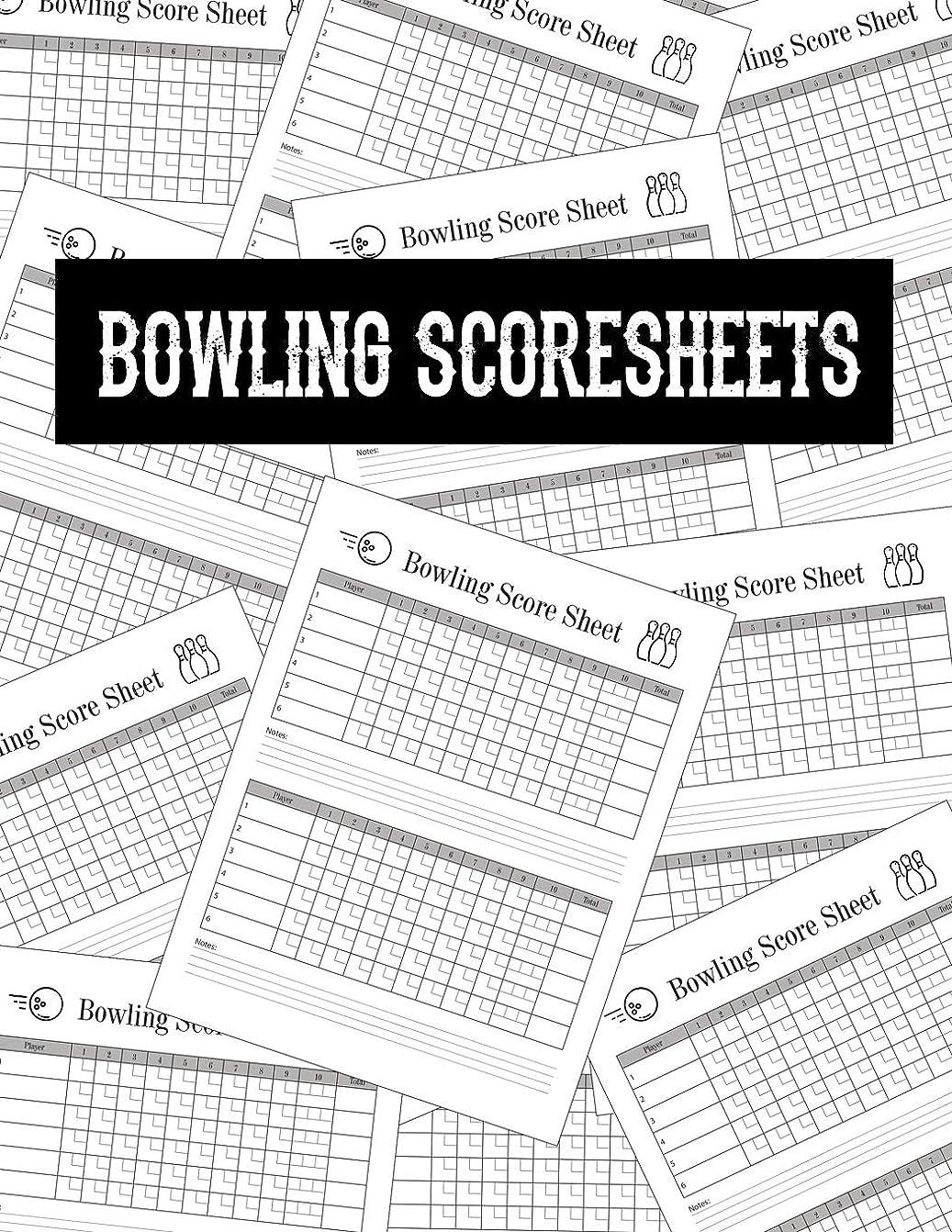 爆風一族機密Bowling Score Sheets: Scoring Pad for Bowlers | Game Record Keeper Notebook | Bowling Team Score Book | Strike Spare Bowling Score Keeper | Score Cards   8.5