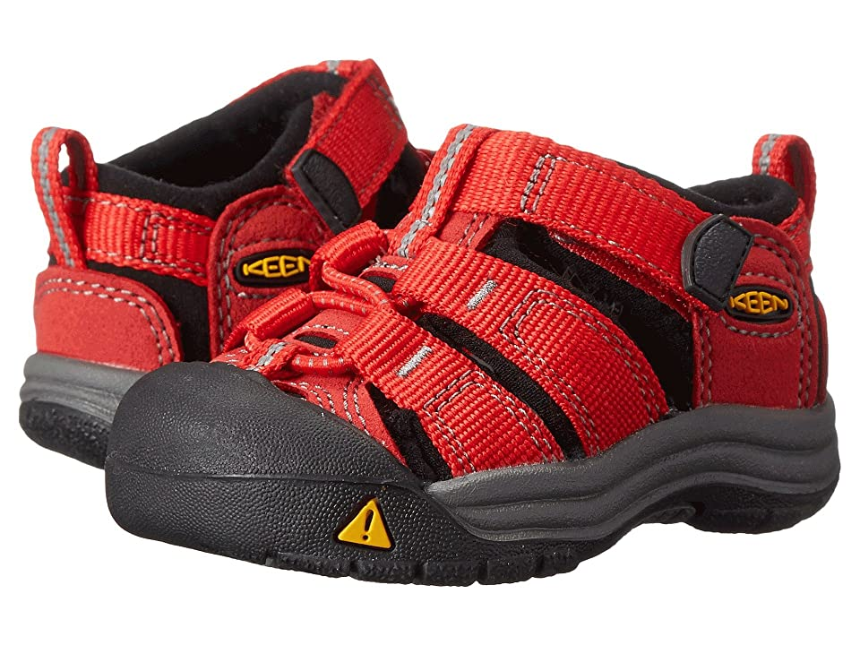 Keen Kids Newport H2 (Toddler) (Ribbon Red/Gargoyle (Prior Season)) Kids Shoes