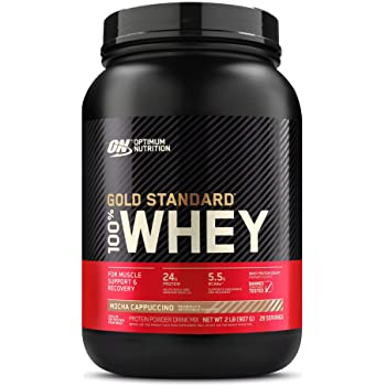Optimum Nutrition Gold Standard 100% Whey Protein Powder, Mocha Cappuccino, 2 Pound (Packaging May Vary)