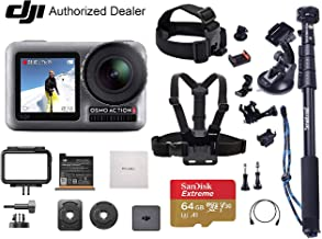 $329 Get DJI OSMO Action – Dual Touch Display Waterproof Digital Action Camera, Must-Have Bundle, with Smatree Selfie Pole, Extreme SD Card, Tripod Mount, Lens Cleaning Cloth and More