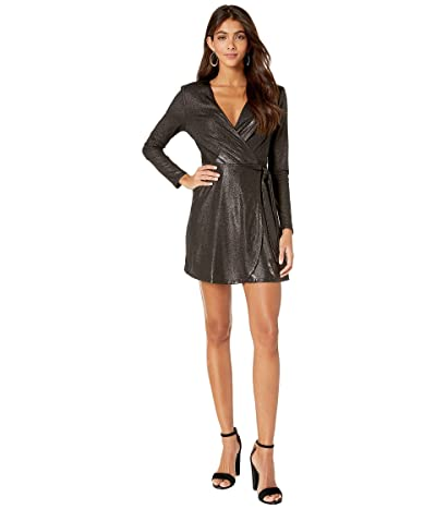 BCBGeneration Belted Wrap Dress TIZ6234169 (Black) Women