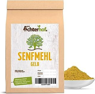 vom Achterhof 1 kg Senfmehl Senfsaat gelb gemahlen , teilentölt zur Senfherstellung Senfpulver vom-Achterhof