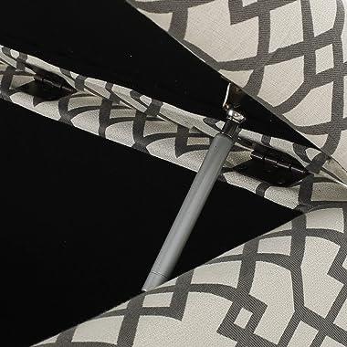 GDFStudio Tempe Estee Grey Geometric Patterned Fabric Storage Ottoman