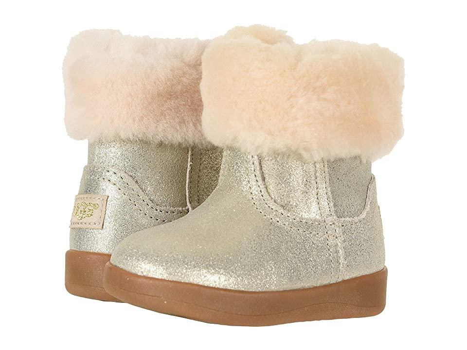 UGG Kids Jorie II Metallic (Infant/Toddler) (Gold) Girls Shoes