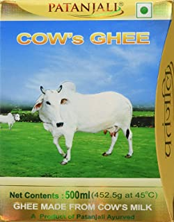 Patanjali Cows Ghee, 500ml pure cow ghee pure natural patanjali ghee for cooking