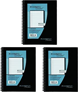 3 Pack of Mead Cambridge Wirebound Business Notebook, Legal Rule, 6 5/8 x 9 1/2 Inches, White, 80 Sheets per Pad (06672)
