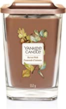 YANKEE CANDLE Elevation Coll. W/Plt Lid - large square candle with 2 large wick Harvest Walk 1591080E
