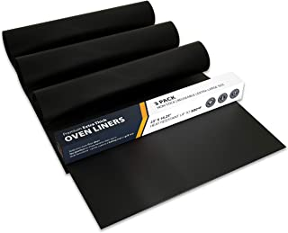 Oven Liner by Linda's Essentials (3 Pack) - Premium Oven Liners For Bottom of Electric Oven and Gas Oven - Reusable Non-St...