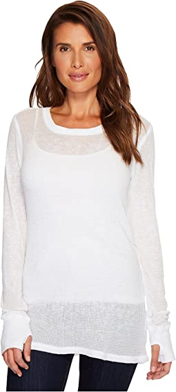 Allen Allen - Pebble Thermal Long Sleeve Thumbhole Tee