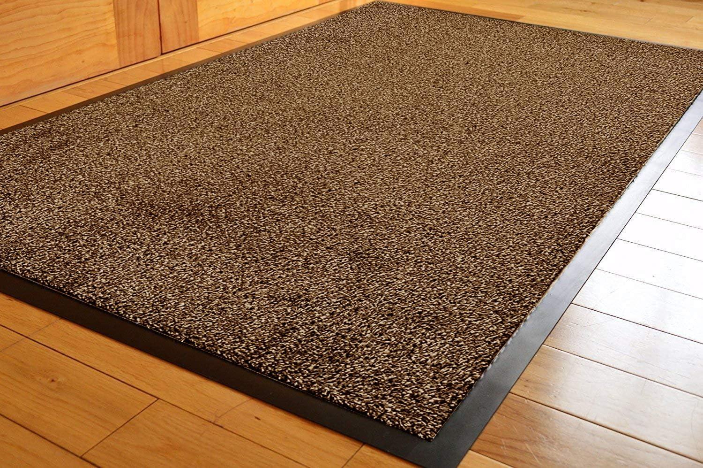 TrendMakers Barrier Mats Dirt Stopper Mats Indoor//Outdoor Mats 40 x 60cm COTTON PILE ANTHRACITE Cotton Pile Super Absorbent Dirt Trappers Mat