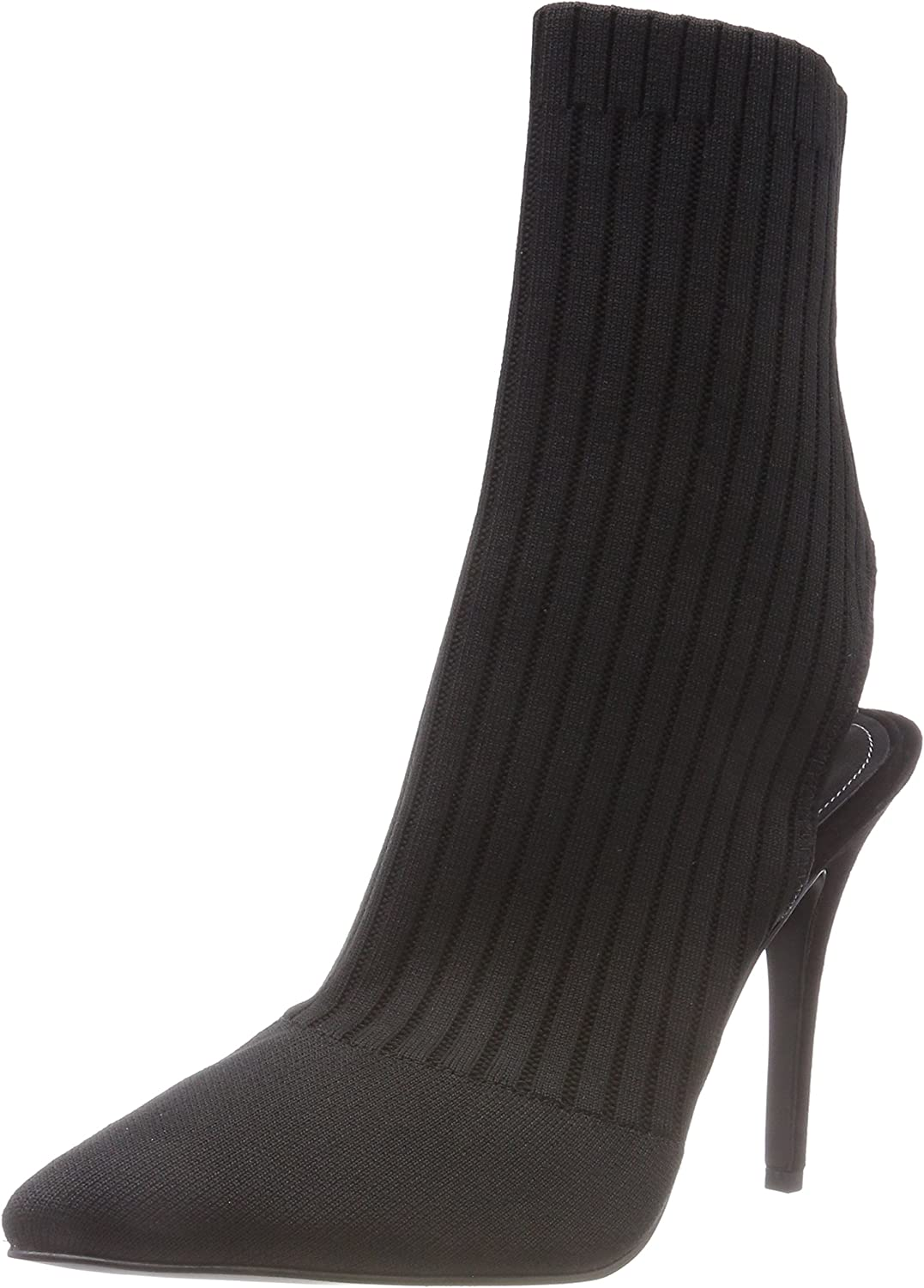 Kendall and Kylie shoes Women's Adrian Knitted Sock Boots Black UK 6