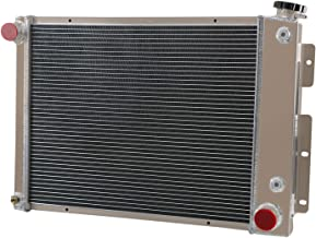 ALLOYWORKS 3 Row Aluminum Radiator for Chevy Camaro/Pontiac Firebird T/A 5.7L V8 67-69, Manual Transmission 1967 1968 1969