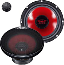 Mac Audio APM Fire 2.16 - Altavoces de coche (sistema de componentes de 2 vías, rango de frecuencia de 45-20000 Hz) rojo
