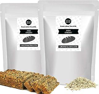 MITOBACK - Grobes Körnerbrot Brotbackmischungen 2er Set á 350 g - Low Carb Eiweiß Brotbackmischung - Eiweißbrot: Glutenfrei ohne Zucker und Mehl - Mehrkornbrot Backmischung ideal für Fitness Ernährung