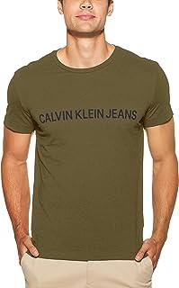 Calvin Klein Jeans Men's Institutional Logo Slim Fit T-Shirt, Grape/BLK, L