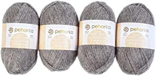 Pehorka Goat Down Wool Lace Yarn - Set of 4 - Yarn for Knitting & Crochet Lightweight Shawl - 1600m & 200g Total Set - 371...