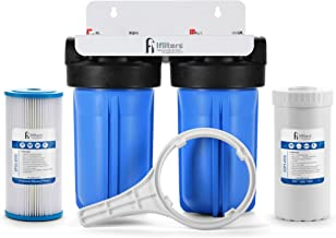 Well Water Whole House Filtration System Dual Stage Complete System Commercial Grade Sediment Odor Taste Rust, 1