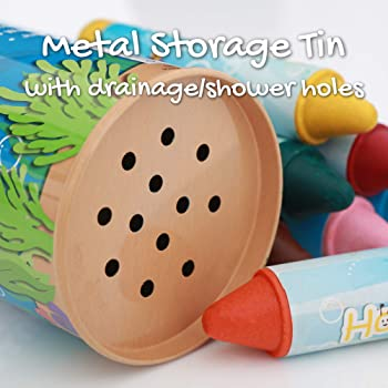 Honeysticks Beeswax Bath Tub Crayons for Toddlers & Kids, Non-Toxic, Washable & Easy Clean Up, Water Soluble Bath-Tim...