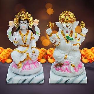 KD HUB Goddess Laxmi Ganesh ji/Maa Lakshmi & Ganesh ji Idol/Figurine/Murti for Puja/Mandir/Vastu/Showpiece/Gift - Religiou...