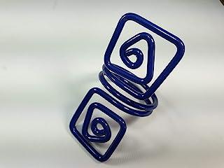 Ronds de serviette,blue.Modele Puck