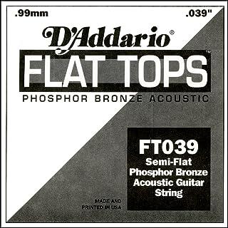 D'Addario FT039 - Cuerda para guitarra acústica de fósforo/bronce.039