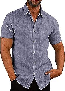 پیراهن کتانی مردانه COOFANDY پیراهن پیراهن پیراهن چمبری