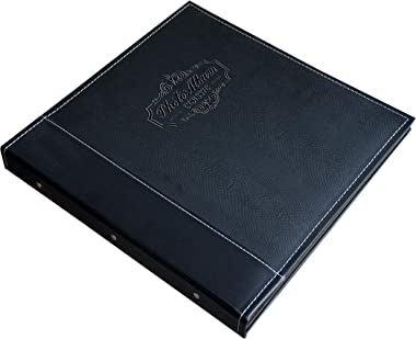 ZOVIEW ART Photo Album Holds 3X5, 4X6, 5X7, 6X8, 8X10 Photos, Leather Cover, Magnetic Self-Stick Page, Hand Made DIY Albums (
