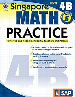 Singapore Math – Level 4B Math Practice Workbook for 5th Grade, Paperback, Ages 10–11 with Answer Key