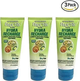 Garnier Fructis Hydra Recharge 1-Minute Moisture-Plenish Treatment 2 Fl Oz - Pack Of 3