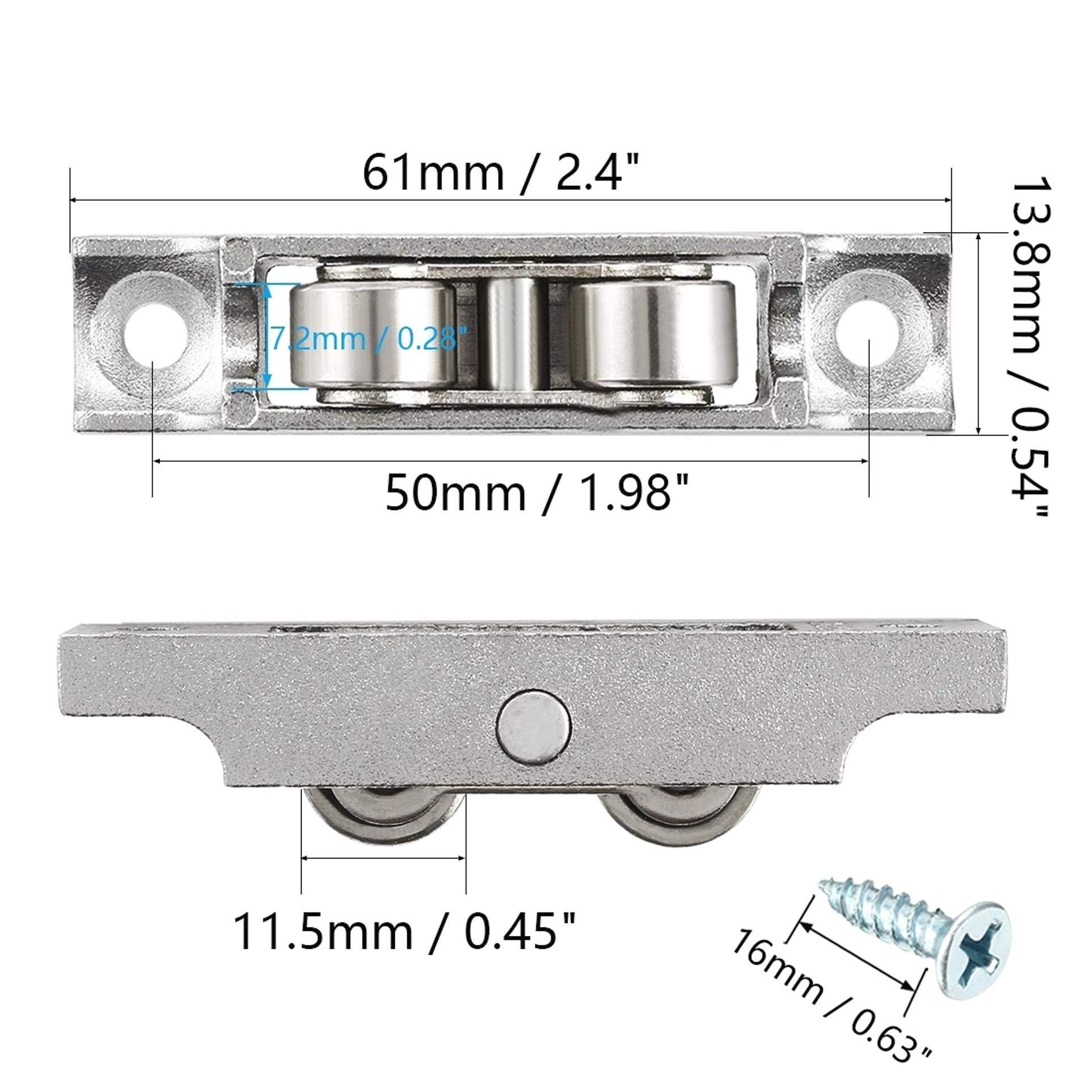 KOKO Zhu 11.5mm Dia 2pcs Rodamiento Acero Galvanoplastia Doble ...