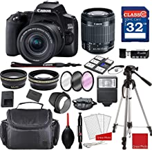 $579 » Canon EOS 250D / Rebel SL3 DSLR Camera with 18-55mm f/4-5.6 STM + Professional Accessory Bundle