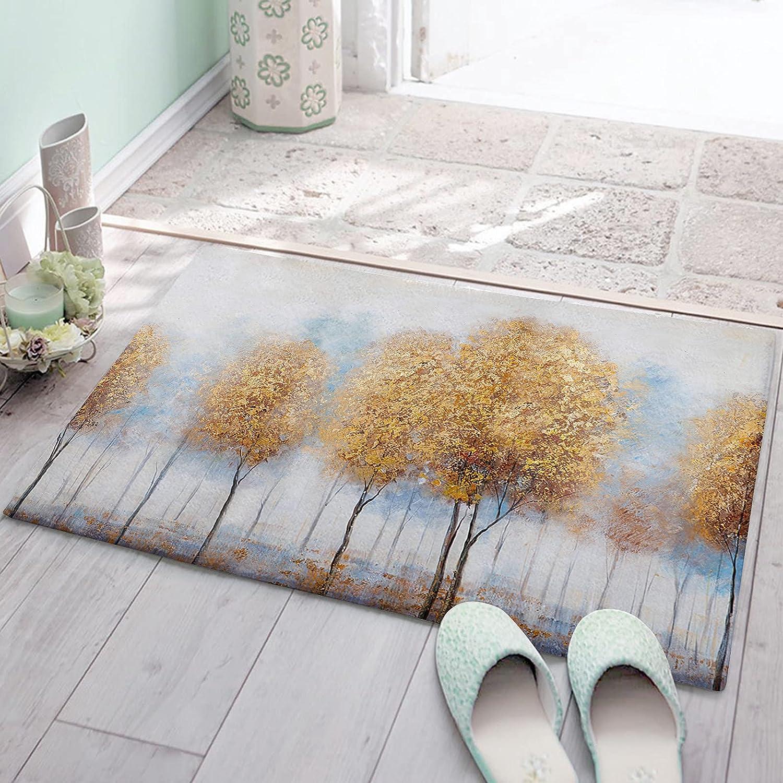 OneHoney Non Slip Floor Mats Shag Tre Carpet Autumn Birch Golden Ranking TOP5 Max 45% OFF