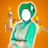 Hijab Frau-Foto-Montage