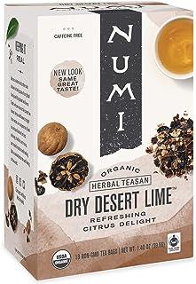 Numi Organic Tea Dry Desert Lime, 18 Count Box of Tea Bags (Pack of 3) Herbal Teasan (Packaging May Vary)