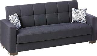 Ottomanson Sofa, 88 x 38 X 36, Dark Blue