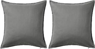 comprar comparacion -Funda de cojín color gris IKEA Gurli 50 cmx 50cm., Gris, Pack de 2