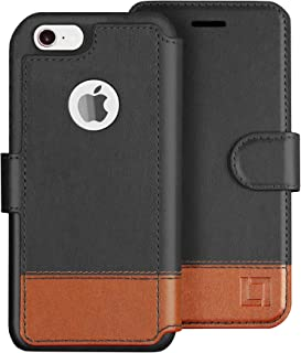 LUPA iPhone 6S Wallet case, iPhone 6 Wallet Case, Durable and Slim, Lightweight with Classic Design & Ultra-Strong Magnetic Closure, Faux Leather, Smoky Cedar, for Apple iPhone 6s/6