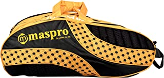 Maspro Nylon KB-Tournament 4 Zip Badminton Equipment Bags (Yellow)