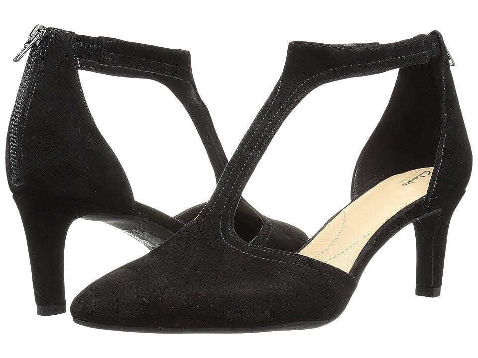 Clarks Calla Lily (Black Suede) High Heels
