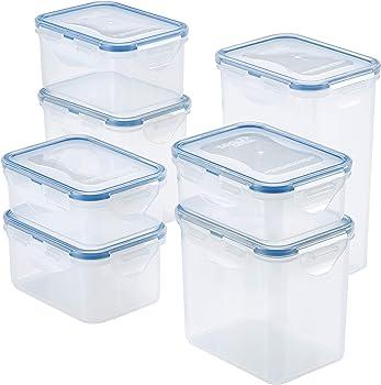 14-Piece Lock & Lock Easy Essentials Food Storage Container Set