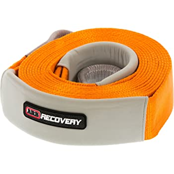"""ARB ARB710LB 3-1/4"""" x 30' Recovery Snatch Strap Minimum Breaking Strength 24000 lbs Kinetic Stretch 20% With Reinforced Eyes and Protector Sleeves"""