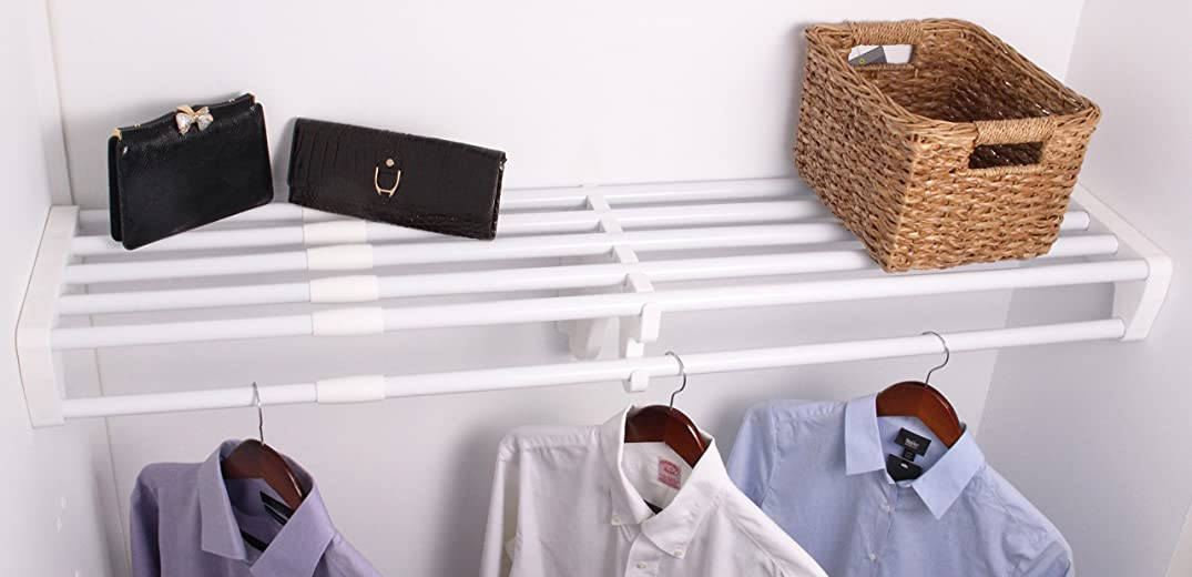 EZ Shelf - DIY Expandable Closet Shelf & Rod, 40