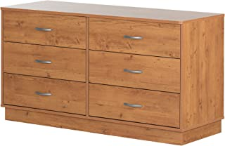 South Shore Logik 6-Drawer Double Dresser, Country Pine