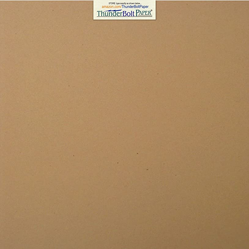 50 Brown Kraft Fiber 28/70# Text (NOT card/cover) Paper Sheets - 12